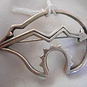 Sterling Silver Bear Pin
