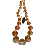 Lucite Vintage Beaded Necklace