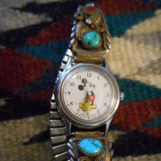 Mickey Mouse Sterling Silver Vintage Watch