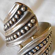 Sterling Silver Vintage Hinged Bracelet