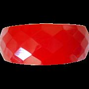 Bakelite Faceted Cherry Red Bracelet