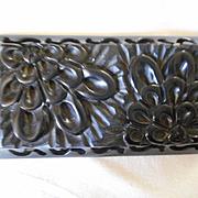 Bakelite Carved Pierced Pin/Brooch