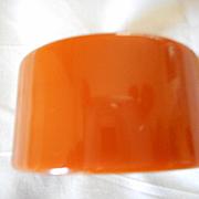 "Bakelite 1 3/8"" Wide Pumpkin Bracelet"