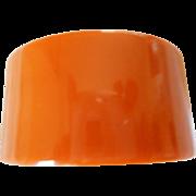 """Bakelite 1 3/8"""" Wide Pumpkin Bracelet - Red Tag Sale Item"""