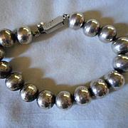 Sterling Silver Beaded Vintage Bracelet