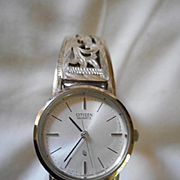 Sterling Silver Band With Citizen Watch