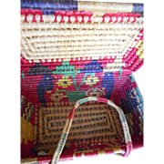 Woven Vintage Large Mexican Picnic Basket