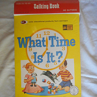Manual Phonograph Talking Book 'What Time Is It?'