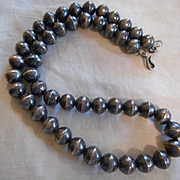 Sterling Silver Vintage Beaded Bracelet