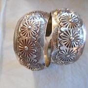 Sterling Silver Vintage Stamped Earrings