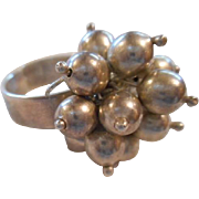 Sterling Silver Beaded Vintage Ring