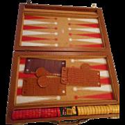 Bakelite Backgammon Set In Case