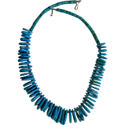 Turquoise Nugget & Heishi Vintage Necklace