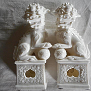 Ceramic White Foo Dogs