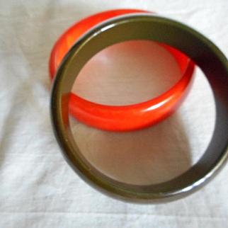 Bakelite Vintage Autumn Bracelets