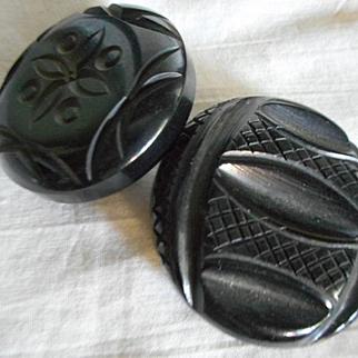 Bakelite Vintage Carved Pins