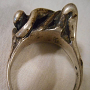 Sterling Silver Vintage Lovers' Ring