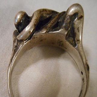 Sterling Silver Vintage Lovers' Ring