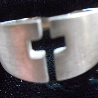 Sterling Silver Vintage Cross Ring