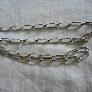 Sterling Silver Vintage Hand Made Link Necklace
