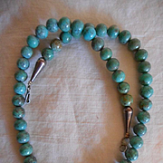 Sterling Silver Turquoise Vintage Beaded Necklace