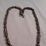 Sterling Silver Beaded Navajo Vintage Necklace