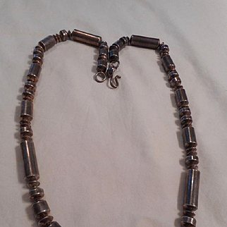 Sterling Silver Beaded Navajo Vintage Necklace