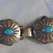 Sterling Silver Turquoise Vintage Concho Bracelet