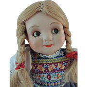 Antique Bisque Googly Doll, 9 1/2 Inches