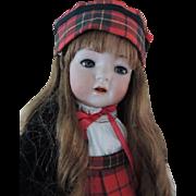 """Kammer & Reinhardt #121 Toddler 22"""" Antique German Bisque Doll, Scottish Attire!"""