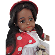 Simon & Halbig #739 Black Antique German Bisque Doll, 22 IN, Paperweight Eyes