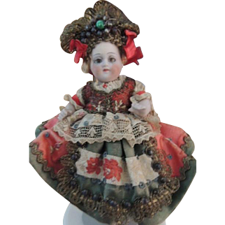 "Antique All Bisque German Doll #161 All Original, 5 1/2"", Jointed Hips Shoulders"