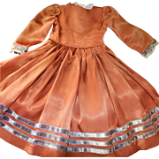 SFBJ Doll Dress, Vintage French Doll Dress, SFBJ Original Costume, Provincial