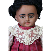 "Simon & Halbig DEP 1009 Antique German Doll,11"" Black Doll"