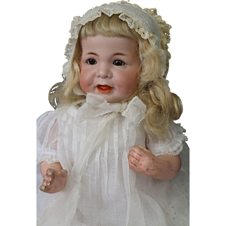 Kammer & Reinhardt #116A Antique German Bisque Doll, 13 IN, Open/Closed Mouth