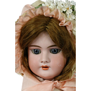Handwerck 99 Antique German Bisque Doll, 21 IN Lace Costume