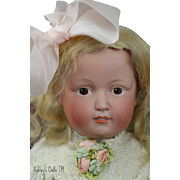 Kestner 183 Antique Doll, Painted Eye Art Character, 16 IN