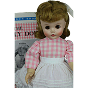 Vintage Madame Alexander Edith The Lonely Doll 15 IN Ca. 1958 with Book, Tagged