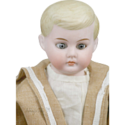 Antique American Schoolboy Doll 13 IN Antique German Bisque Doll