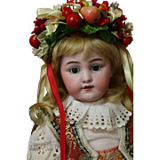 Simon & Halbig 1269 Antique German Bisque Doll 16 IN Antique Costume,