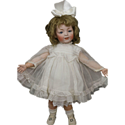 JDK #211 Toddler, Antique German Bisque Doll, 21 Inches, Slant Hip, Plaster Pate