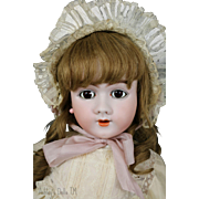 Antique Handwerck 109 Doll 30 IN Antique German Bisque Doll, Stamped Body