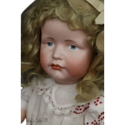 Kammer & Reinhardt #114 Antique German Bisque Doll, 18 IN Gretchen