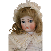 Sonneberg Mold 137 Antique Bisque Doll, 16 IN, Antique Belton Type Doll