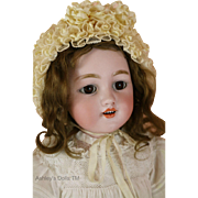Simon and Halbig 1250 Antique German Bisque Doll, 21 In