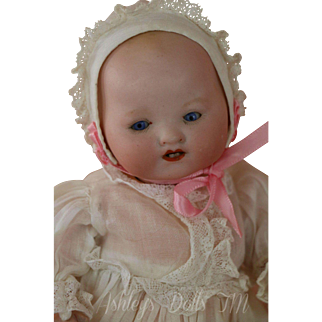 Antique Armand Marseille 351 Infant Doll, 9 IN, Compo body, AM 351 German Doll