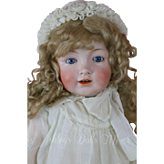 Antique Kestner 220 Toddler Doll, 24 IN, RARE Antique German Bisque Doll
