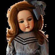 Antique Handwerck 109 German Bisque Doll, 25 IN, Antique Human Hair Wig, DEP