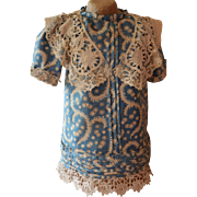 Silk And Lace Doll Dress, French Doll Dress, Vintage Doll Dress, Antique Dolls