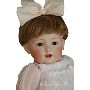 Antique Kestner 220 Toddler Doll, 11 IN, Antique German Bisque Doll, Slant Hips